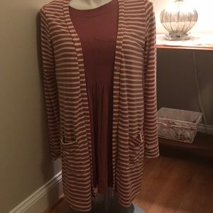 Agnes & Dora Cardigan and Babydoll Top Large